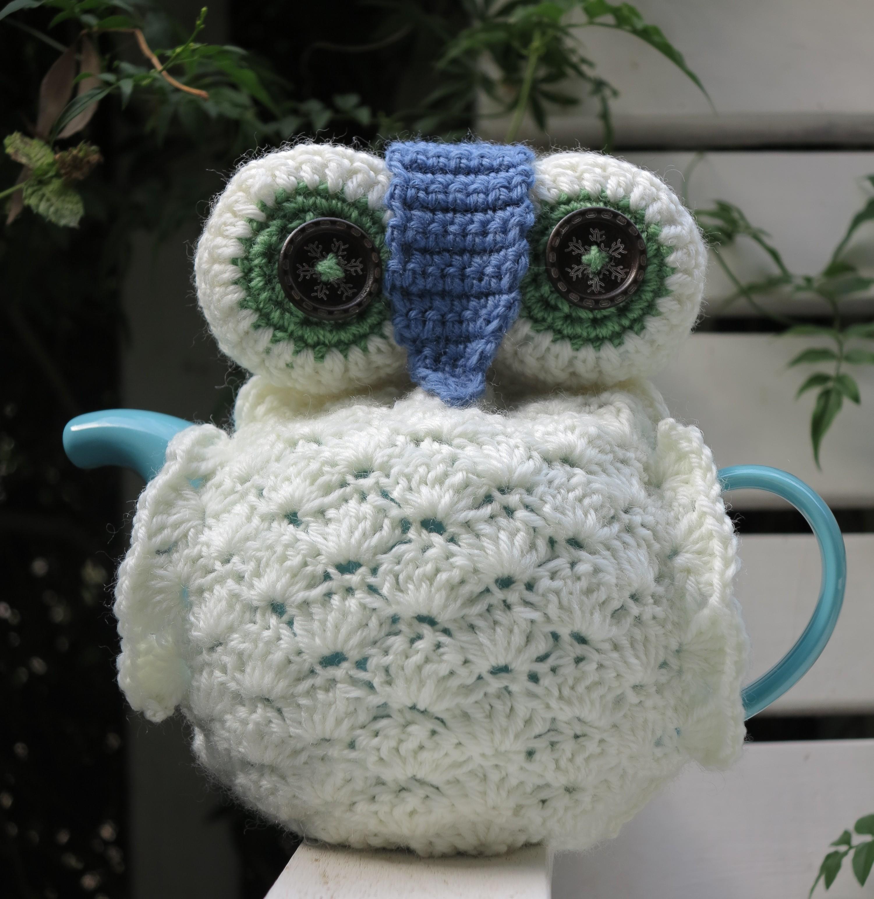 tea pot cosy bear loves dove