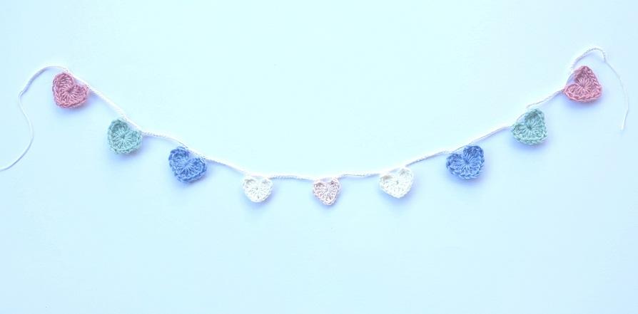 pastel love heart garland 3