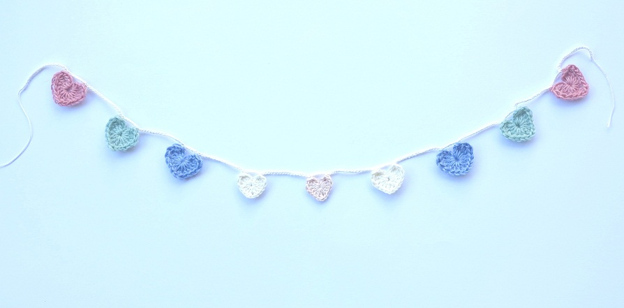 pastel love heart garland 3