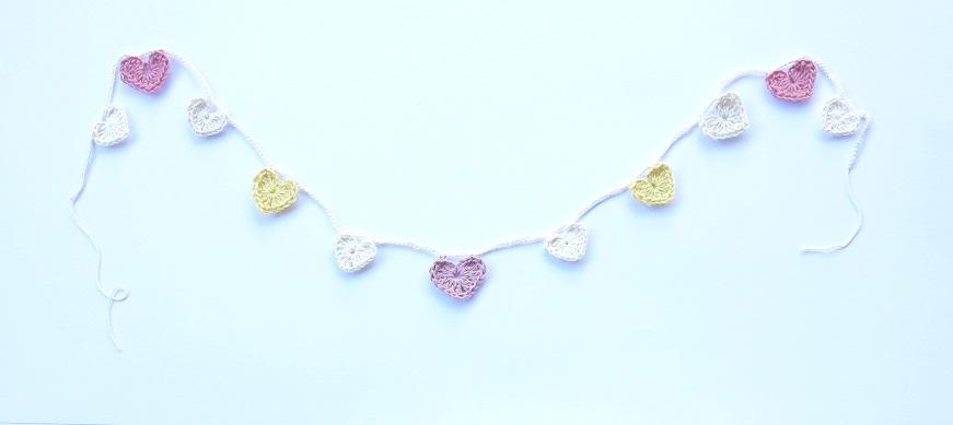 pink & lemon heart garland