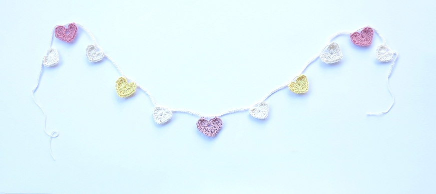 pink & lemon heart garland
