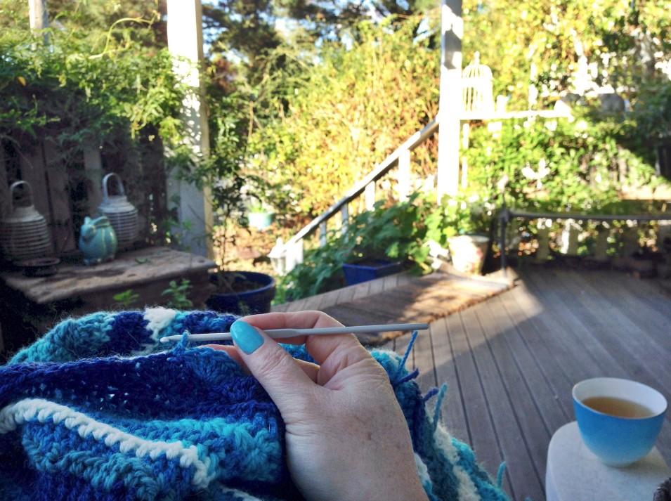 blue porch crochet