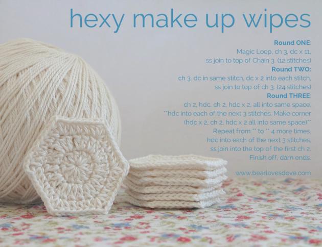 hexymake up wipes free pattern